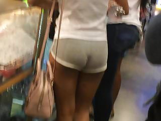 Hot ass cheekies Cheeky bubble booty in grey shorts
