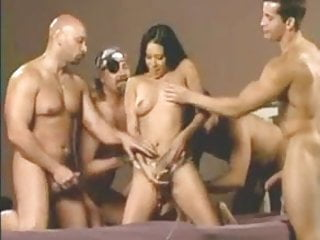 Gay naked men cum - Six men cum inside her