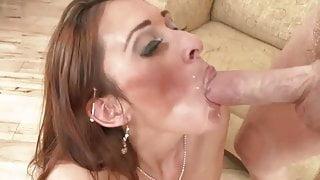 Deanna Dare swallows yummy cum load