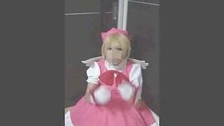 Japanese CD cosplayer CC sakura cumshot