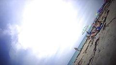 3 Topless Teens at Florida Beach - 04