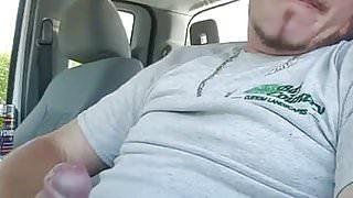 A verbale gay in his car 1