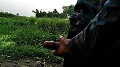 Indian masturbation in outdoor handjob sex 2