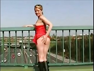 Outdoor naked exhibition - Amateur - cute blond exhibition pee