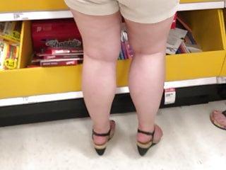 Fat tan pussy - Teen nice fat ass wedgie in tan tight shorts