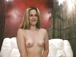 Girls small boobs - Skanky blonde with small boobs rides machine