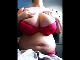 Bra busting boobs website no signup - Chubby show huge bra and boobs in house