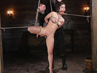 Bondage tied up tight in ropes Petite brunette serena blair tied in rope bondage
