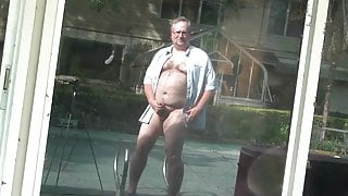 Str8 chubby stepdad loves to cums outside (01)