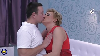 Taboo sex with hot aunt and lucky young step son