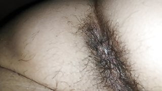 Hairy new year (asshole cose up)