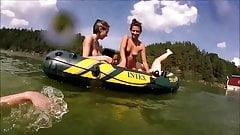 Wild girls skinny dipping