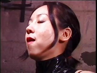 Basement bondage cage Cute asian dominatrix whips sex slave in bondage basement