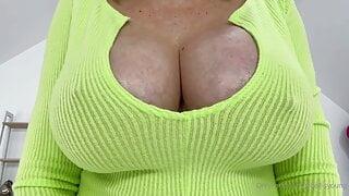 Solo Gill Ellis Young aka Lady Sonia shows big tits close-up