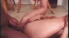 Cute brunette girl loves a huge black dick stretching her tight young asshole