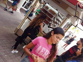 Boobs in shirts candids - Candid voyeur teen pink shirt shopping great legs