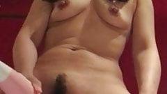 Asian Mature Squirts When Masturbating