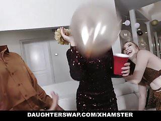Women to women erotica - Daughterswap - sexy teen daughters fucked next to women