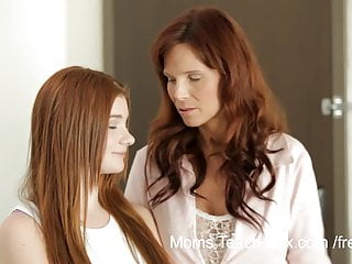 Redheaded teen fucks Horny mom teaches not her stepdaughter how to fuck
