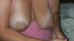 Blonde gf big natural tits messy handjob cumshot