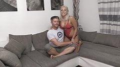 Horny Guy fucking hot Blonde Escort