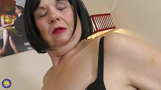 Mature wife Lady Jane with big natural tits