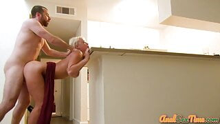 Bigtitted blonde cougar – rough anal pounding