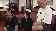Perfect brunette wife gets fucked in the ass by big black bull cock