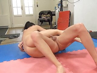 Meet guys with small dicks - Brunette beats small dick guy and makes him lick her pussy