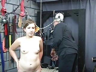 Stuffed in a vagina Captured brunette has her head stuffed in a box.
