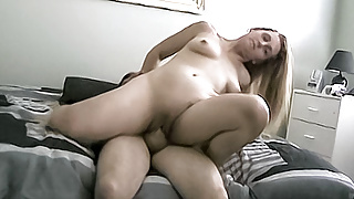 Slutty blonde mature gets filled up with a creampie