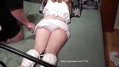 Young girl gets fucked and spanked hard by a old man.