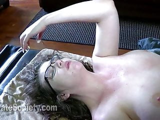 Cum in her asshole Training her asshole to fuck