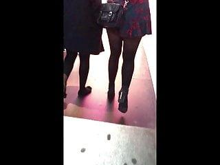 Teen miniskirt fingering - Candid teen miniskirt pantyhose tights