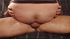 ride daddy's raw dick and he fucks the cum in HARD