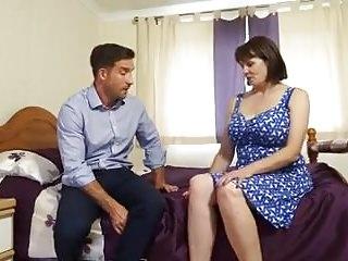 Hard fuck wife in bedroom - Busty british mature housewife fucks workman in bedroom