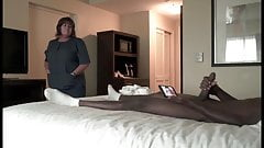Fat hotel maid like flashed cock