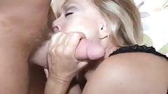 Hot Blonde Grandma with  good sucking skills
