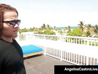 Cuban sex video Sweet cuban angelina castro is super banged on a roof top