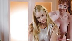 Sarah Vandella, Lauren Phillips & Luna Lain are lovemaking