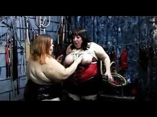 Bbw fat tits - Bbw fat breasts zippered with ropes