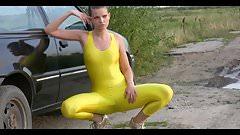 Alexa in yellow