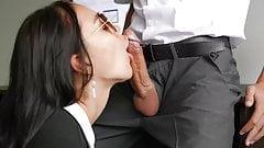 Secretary sucking boss dick
