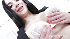 Private.com - Long Haired Lady Gang Gets Double Penetrated!