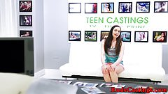 Pussyfucked teen treated rough at casting