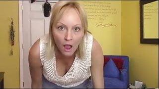 MILF undressing the camera