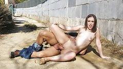 MAMACITAZ Hot Spanish Teen Zoe Doll Takes Huge Cock Outdoor