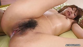 Japanese brunette, Rui Asahina got creampied after having se