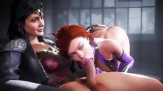 Wonder Woman Sucked Off By Starfire