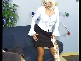 White haired pussy grannys - White haired tarty granny in stockings fucks